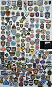 Police Patrol Law Enforcement Prints - Police and Fire Fighter Emblems Print by Terri Gostola
