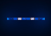 Police Cruiser Art - Police Emergency Lights With Blue Surrounding Light by Fizzy Image