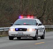 Police Escort Print by E Faithe Lester