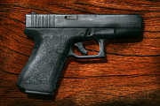 Firearms Metal Prints - Police - Gun - The modern gun  Metal Print by Mike Savad