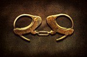 Handcuff Framed Prints - Police - Handcuffs arent always a bad thing Framed Print by Mike Savad