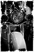 Classic Cycle Prints - Police Harley II Print by David Patterson