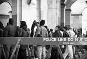 Police Art Photo Prints - Police Line 1990s Print by John Rizzuto