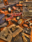 Police Art Photos - Police Officer - The Detectives Desk  by Lee Dos Santos