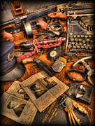 Police Art Photos - Police Officer- The Detectives Desk II by Lee Dos Santos