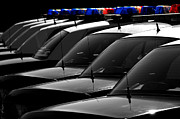 Cop Cars Framed Prints - Police Patrol Cruisers Cars Framed Print by Lane Erickson