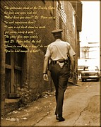 Devotional Art Posters - Police Poem Poster by John Malone