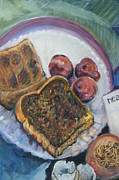 Toast Paintings - Political statement by Susan  Brown  Slizys artist name