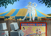 Circus. Paintings - Politicians Performing for Voters by Charles Fennen
