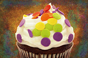 Cupcake Photography Prints - Polka Dot Cupcake 3 Print by Andee Photography