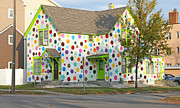 Polka Dot House Print by Steve Augustin