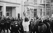 Police Officer Prints - Poll Tax Riots London Print by David Fowler