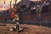 Arena Painting Prints - Pollice Verso Print by Pg Reproductions