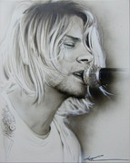 Kurt Cobain Metal Prints - Polly Metal Print by Christian Chapman Art