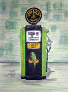 Kathy Marrs Chandler Art - Polly Gas Pump by Kathy Marrs Chandler