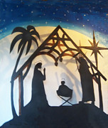 Nativity Reliefs Prints - Pollysnativity Print by Gordon Wendling