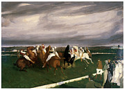Polo Paintings - Polo at Lakewood by George Bellows