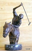Sports Sculptures - Polo badkhand by Wendy  Du Plessis