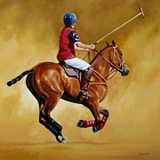 Match Painting Framed Prints - Polo Framed Print by Janet  Crawford