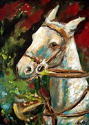 Impressionistic Horse Paintings - Polo Pony by Relly Peckett