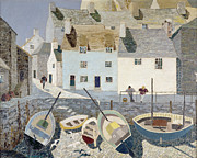 Shadows Paintings - Polperro by Eric Hains