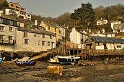 Trawler Metal Prints - Polperro Harbour  Metal Print by Rob Hawkins