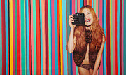 Photo Real Paintings - Polychromatic Girl by Lucas Salgado