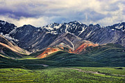 Snow Capped Mountains Prints - Polychrome Print by Heather Applegate