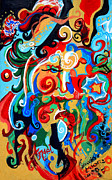 Rhythm Painting Originals - Polynomial Name God Phase I by Genevieve Esson