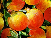 Warm Colors Painting Posters - Pomegranate Poster by Debi Pople