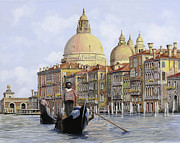 Grand Painting Framed Prints - Pomeriggio A Venezia Framed Print by Guido Borelli