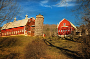 Vermont Landscapes Posters - Pomfret Highlands Farm Poster by Thomas Schoeller