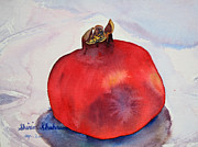 Persia Paintings - Pomogranate Punica granatum by Shirin Shahram Badie
