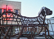 Downtown Pomona Posters - Pomona Art Walk - Metal Horse Poster by Gregory Dyer