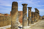 Destroyed Framed Prints Framed Prints - Pompeii - Columns Framed Print by Kim Andelkovic