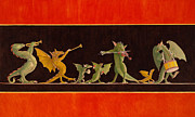 Dragons Paintings - Pompeiian Minstrels by Leonard Filgate