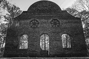 Pon Pon Chapel Of Ease 5 Bw Print by Steven  Taylor