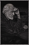 Pondering Photo Prints - Pondering Man Print by Nicholas J Mast