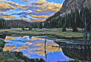 Pondering Reflections Print by David Kehrli
