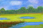 Folkartanna Paintings - Ponds in bloom by Anna Folkartanna Maciejewska-Dyba
