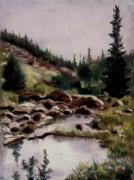 Western Art Pastels - Ponds on Slumgullion Pass by Judy Sprague