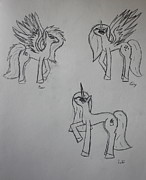 My Little Pony Drawings - Ponies by Caitlin Fielding
