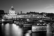 Pont Des Arts Posters - Pont des Arts and Institut de France / Paris Poster by Barry O Carroll