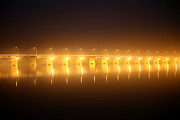 Martyrs Prints - Pont des martyrs Bridge at night Print by Michel Piccaya