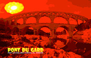 South Of France Digital Art Framed Prints - Pont du Gard Framed Print by Mike Moore FIAT LUX