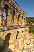 France Posters - Pont du Gard Roman Aquaduct Languedoc-Roussillon France Poster by Colin and Linda McKie