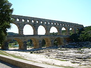 South Of France Framed Prints - Pont du Gard Framed Print by Tommy Budd