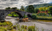 Stone Bridge Framed Prints - Pont Fawr 1636 Framed Print by Adrian Evans