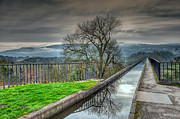 Winter Digital Art - Pontcysyllte Aqueduct by Adrian Evans