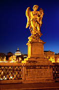 Night Angel Framed Prints - Ponte Sant Angelo Framed Print by Brian Jannsen